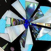 Украшения handmade. Livemaster - original item Brooch Abstract flower. Turquoise, mother of pearl, malachite.. Handmade.