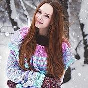 Одежда ручной работы. Ярмарка Мастеров - ручная работа Тёплый нежный свитер. Handmade.