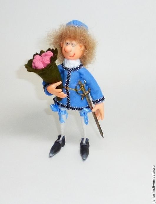 Человечки ручной работы. Ярмарка Мастеров - ручная работа. Купить Прынц. Handmade. Разноцветный, куклы, тесьма