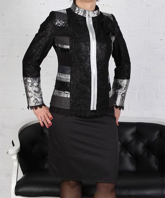 """Верхняя одежда ручной работы. Ярмарка Мастеров - ручная работа. Купить Авторская Куртка в стиле """"Пэчворк"""". Handmade. Куртка женская"""