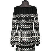 Одежда ручной работы. Ярмарка Мастеров - ручная работа Платье черно-белое в стиле Миссони. Handmade.