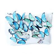 """Классическая сумка ручной работы. Ярмарка Мастеров - ручная работа Сумочка """"Бабочки"""" натуральная кожа. Handmade."""