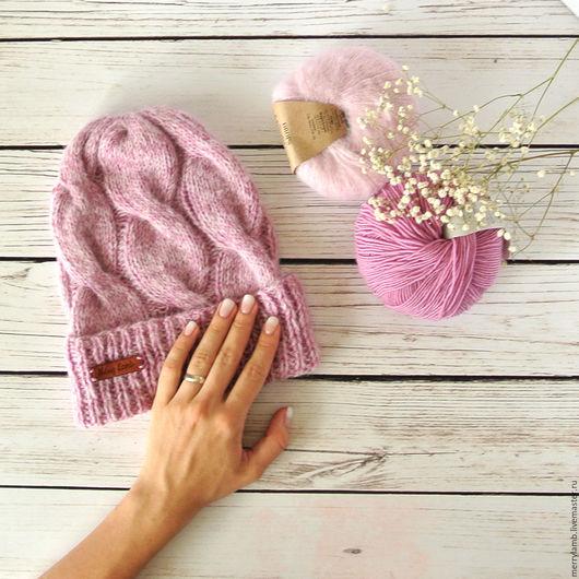 Шапки ручной работы. Ярмарка Мастеров - ручная работа. Купить Пушистая шапка. Handmade. Шапка, шапка вязаная женская