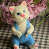 Куклы и игрушки handmade. Livemaster - original item Felt Spring kitten. Handmade.