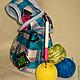 Японская сумка-клубочница Сумочка для рукоделия Сумочка клубочница  изнанка