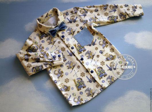 """Одежда для мальчиков, ручной работы. Ярмарка Мастеров - ручная работа. Купить Рубашка """"Снова зимние забавы"""". Handmade. Рубашка тёплая"""