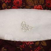 Свадебный салон ручной работы. Ярмарка Мастеров - ручная работа Муфта с брошью. Handmade.