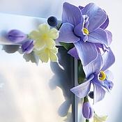 Сувениры и подарки ручной работы. Ярмарка Мастеров - ручная работа Фторамка с орхидеями. Handmade.