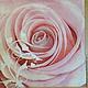 Крупная розовая нежная роза Салфетка для декупажа, салфетка пр-во Польша Декупажная радость