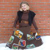 Одежда ручной работы. Ярмарка Мастеров - ручная работа Пейзажи.  юбка. Handmade.