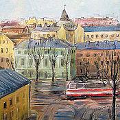 Открытки handmade. Livemaster - original item Tram and may Petersburg Petrogradskaya storona Card. Handmade.