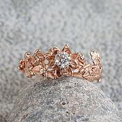 Украшения handmade. Livemaster - original item Gold engagement ring with diamond