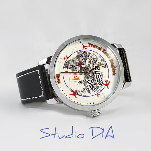 Оригинальные Дизайнерские Часы Под Заказ - Travel Your English. Студия Дизайнерских Часов DIA.