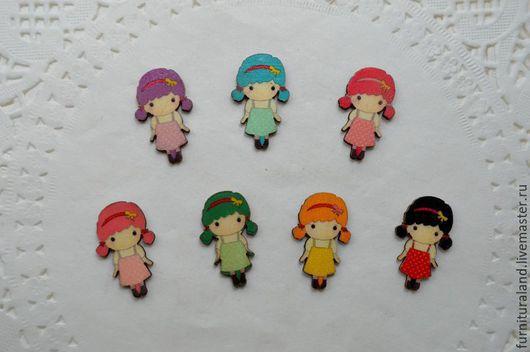 """Куклы и игрушки ручной работы. Ярмарка Мастеров - ручная работа. Купить Декоративные элементы """"Девочки"""" разноцветные.. Handmade. Разноцветный, для украшений"""