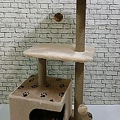 Аксессуары для питомцев ручной работы. Ярмарка Мастеров - ручная работа Игровой комплекс для кошек Парма Люкс. Handmade.