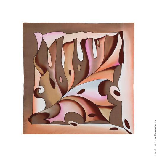 Шали, палантины ручной работы. Ярмарка Мастеров - ручная работа. Купить Батик Шелковый платок Кленовый лист 70х70 см. Handmade.