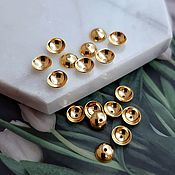 Материалы для творчества handmade. Livemaster - original item 10 PCs. Beanies for beads 6h2 mm color gold (4536). Handmade.