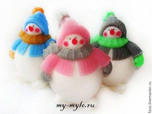 Другие виды рукоделия ручной работы. Ярмарка Мастеров - ручная работа. Купить Силиконовая форма Снеговик-1. Handmade. Розовый