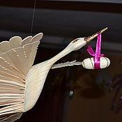 Фен-шуй и эзотерика ручной работы. Ярмарка Мастеров - ручная работа Птица счастья из дерева (аист). Handmade.