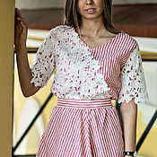 Одежда ручной работы. Ярмарка Мастеров - ручная работа платье в полосочку. Handmade.