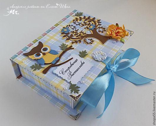 """Подарки для новорожденных, ручной работы. Ярмарка Мастеров - ручная работа. Купить Мамины сокровища """"Совенок"""". Handmade. Голубой, новорожденному"""
