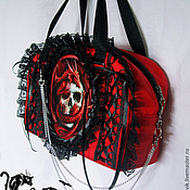 "Субкультуры ручной работы. Ярмарка Мастеров - ручная работа Сумка ""Goth"". Handmade."