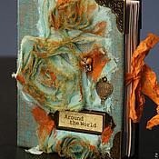 Канцелярские товары ручной работы. Ярмарка Мастеров - ручная работа Блокнот  Вокруг света,формат А6. Handmade.