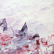 """Картины и панно ручной работы. Ярмарка Мастеров - ручная работа Картина маслом """"Мой розовый закат"""". Handmade."""