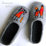 Обувь ручной работы handmade. Livemaster - original item mens felted Slippers