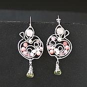 Украшения handmade. Livemaster - original item Earrings Crystal Apples. Handmade.