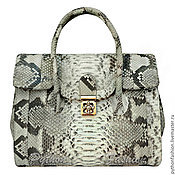 Сумки и аксессуары handmade. Livemaster - original item Bag made of Python skin CASSIOPEA. Handmade.