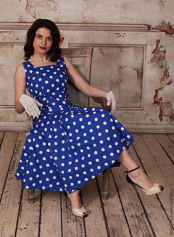 Платье 70 годов в горошек