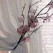 Для дома и интерьера handmade. Livemaster - original item Tiebacks Cherry Twig. Handmade.