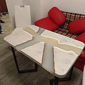Столы ручной работы. Ярмарка Мастеров - ручная работа Кухонный стол из слэба. Handmade.