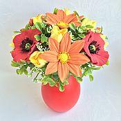 Цветы и флористика ручной работы. Ярмарка Мастеров - ручная работа Летний букетик. Handmade.