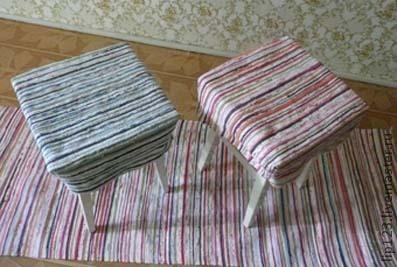 Ткачество ручной работы. Ярмарка Мастеров - ручная работа. Купить сидушка на табурет. Handmade. Коврик, Ткачество, этно, ткачество на станке