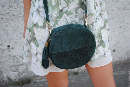 Женские сумки ручной работы. Ярмарка Мастеров - ручная работа. Купить C033(изумруд). Handmade. Тёмно-зелёный, сумочка ручной работы