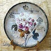 Посуда handmade. Livemaster - original item Plate-retro