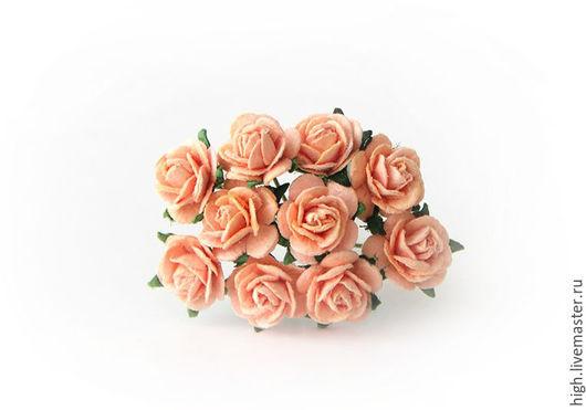Розочки mini, цвет персиковый, 1 см, РМ-1-22