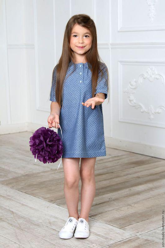 Одежда для девочек, ручной работы. Ярмарка Мастеров - ручная работа. Купить Платье (Арт: Д-76). Handmade. Синий