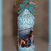 Сувениры и подарки ручной работы. Ярмарка Мастеров - ручная работа Подарочное оформление вина с фотографией. Handmade.