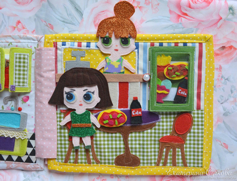 """""""Кафе для кукол"""" - страница для книжки из фетра, Кукольные домики, Москва,  Фото №1"""