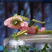 """Украшения ручной работы. Ярмарка Мастеров - ручная работа Брошь дракон """"Pinky"""". Дракон из бисера. Розовый дракончик. Брошь бисер. Handmade."""