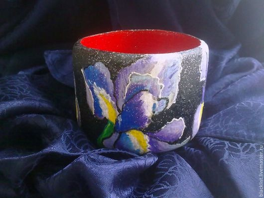 """Браслеты ручной работы. Ярмарка Мастеров - ручная работа. Купить браслет """"Ирисы"""". Handmade. Браслет, ручная роспись, подарок женщине"""