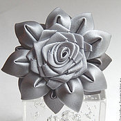 """Украшения ручной работы. Ярмарка Мастеров - ручная работа """"Grey""""  Резинка для волос с цветами. Handmade."""