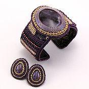 Украшения ручной работы. Ярмарка Мастеров - ручная работа Фиолетовый браслет. Handmade.