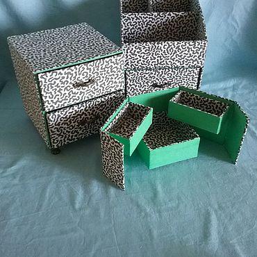 Для дома и интерьера ручной работы. Ярмарка Мастеров - ручная работа Набор мини-органайзеры для мелочей, косметики или украшений. Handmade.