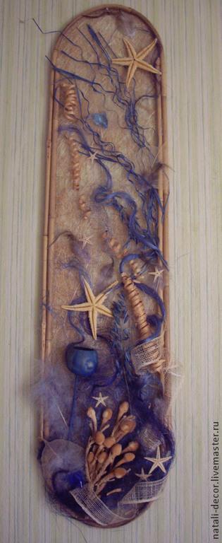 """Фантазийные сюжеты ручной работы. Ярмарка Мастеров - ручная работа. Купить настенное панно """"Море"""". Handmade. Синий, морская тема"""
