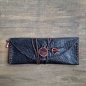 Кошельки ручной работы. Ярмарка Мастеров - ручная работа Кошелек-пенал из натуральной кожи. Handmade.