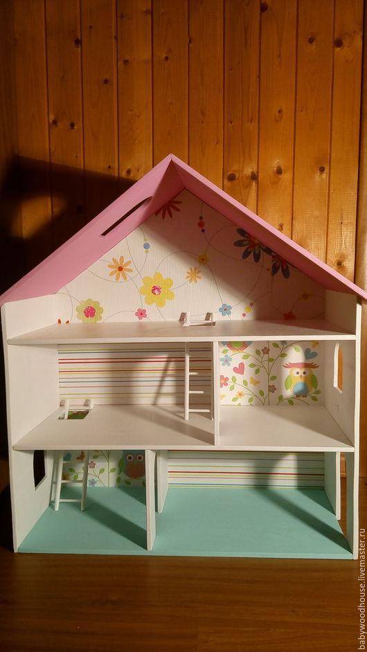 Кукольный дом ручной работы. Ярмарка Мастеров - ручная работа. Купить Кукольный домик. Домик для кукол.. Handmade. Розовый